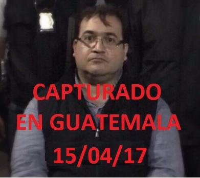 JAVIER DUARTE DE OCHOA: CAPTURADO.