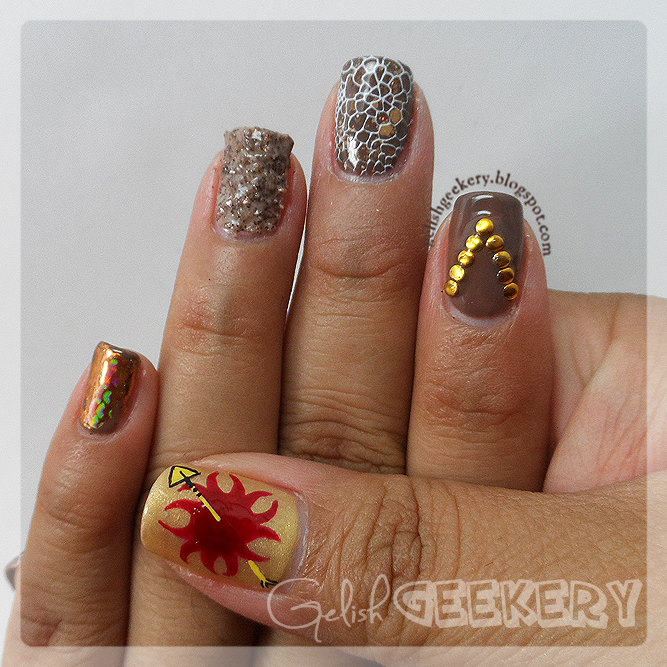 Gelish Game of Thrones Martell Nails