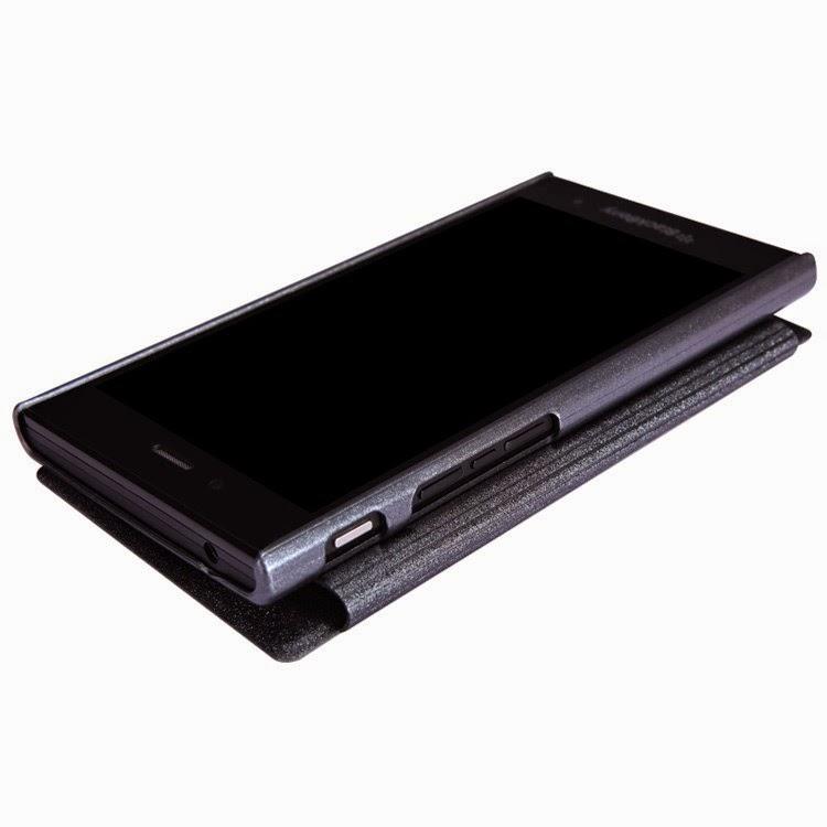 Leather-Case-BlackBerry-Z3-Nillkin-Sparkle-Series-View-Window-Black