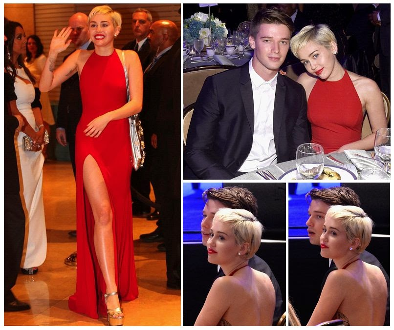 Miley Cyrus and Patrick Schwarzenegger headed pre-Grammy Gala at Beverly Hills Hilton on Saturday, January 7, 2015