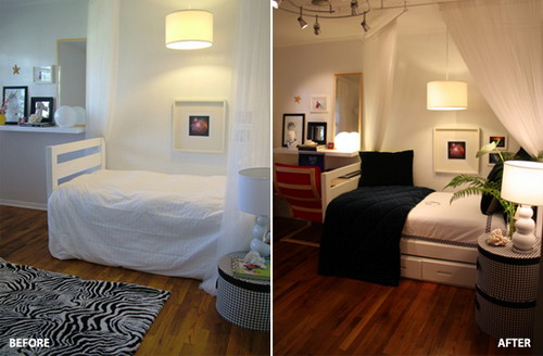 before and after small bedroom makeover ideas