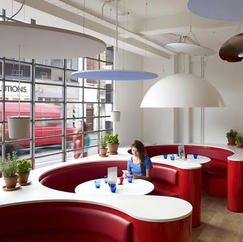 In design magz cozy restaurant with modern interior
