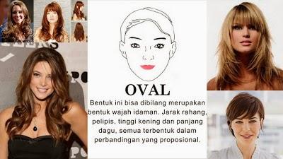 rambut berdasarkan wajah oval