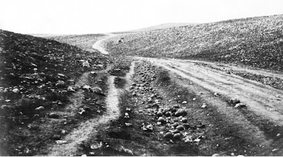 Roger Fenton's iconic 1855 photo of the 'Valley of the Shadow of Death' Crimea