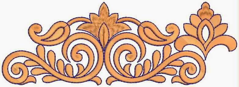 Lig oranje kleur Kant grens ontwerp