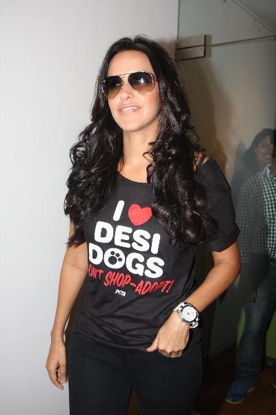 Neha Dhupia endorses PETAs latest campaign