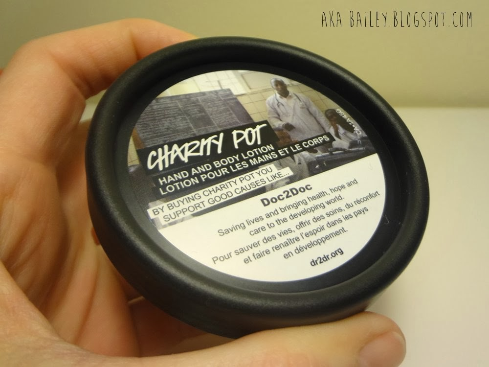 Charity Pot lotion from LUSH
