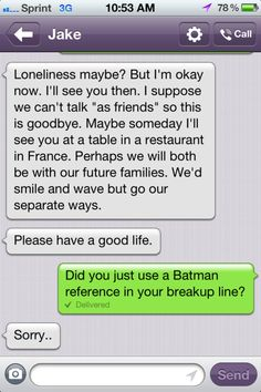 How to break up with him over text