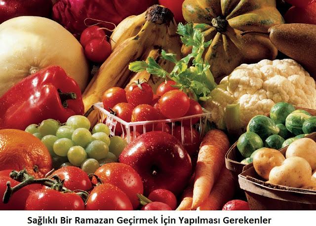 Sağlıklı Bir Ramazan Geçirmek İçin Yapılması Gerekenler
