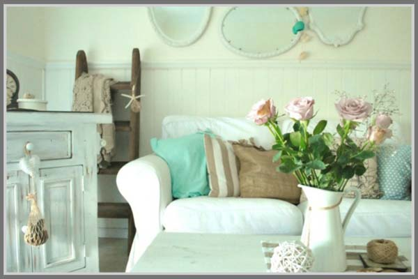 Living Room Shabby Chic Beautiful Design