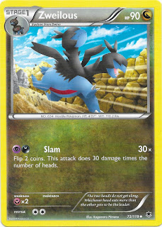 Zweilous Phantom Forces Pokemon Card