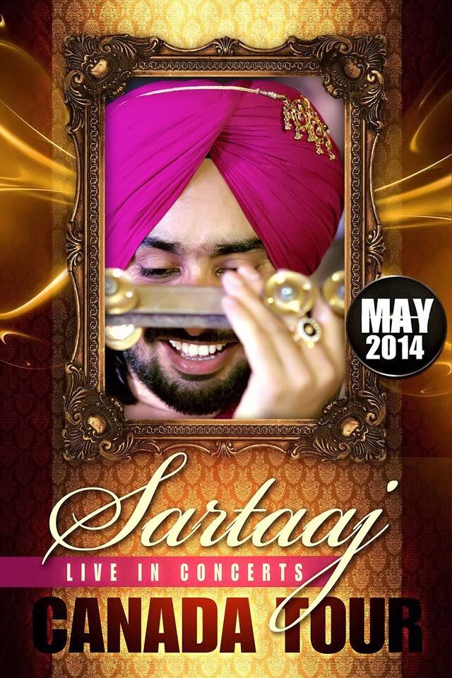 Satinder Sartaj Canada Tour Poster