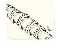 Zentangle-Muster. Tangle: Potterbee, Designer: Beate Winkler, CZT