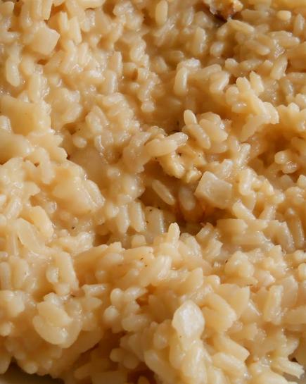 bimby, risotto gorgonzola, pere e noci