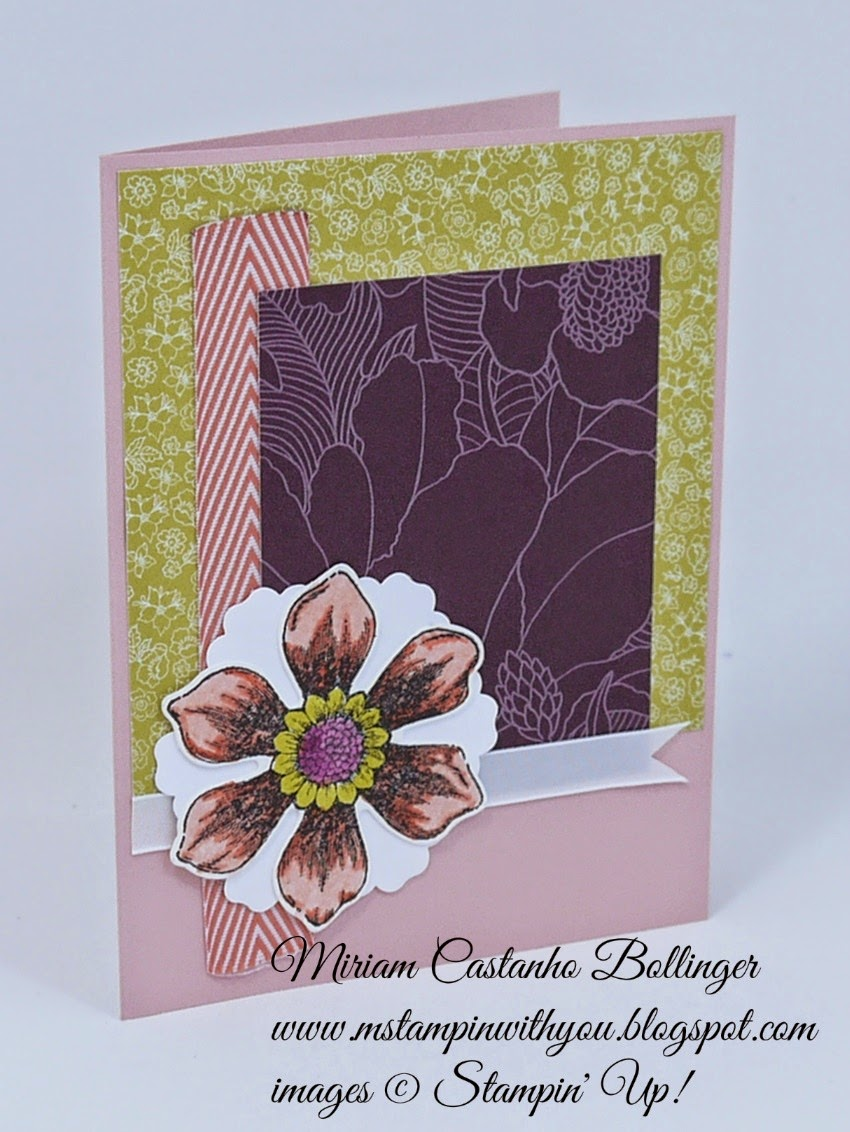 MM363, CQC259, Miriam Castanho Bollinger, mstampinwithyou, stampin up, demonstrator, mm, cqc, beautiful bunch, fun flower punch, blossom punch, park lane dsp, su