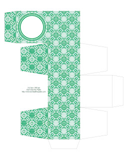 green printable gift box
