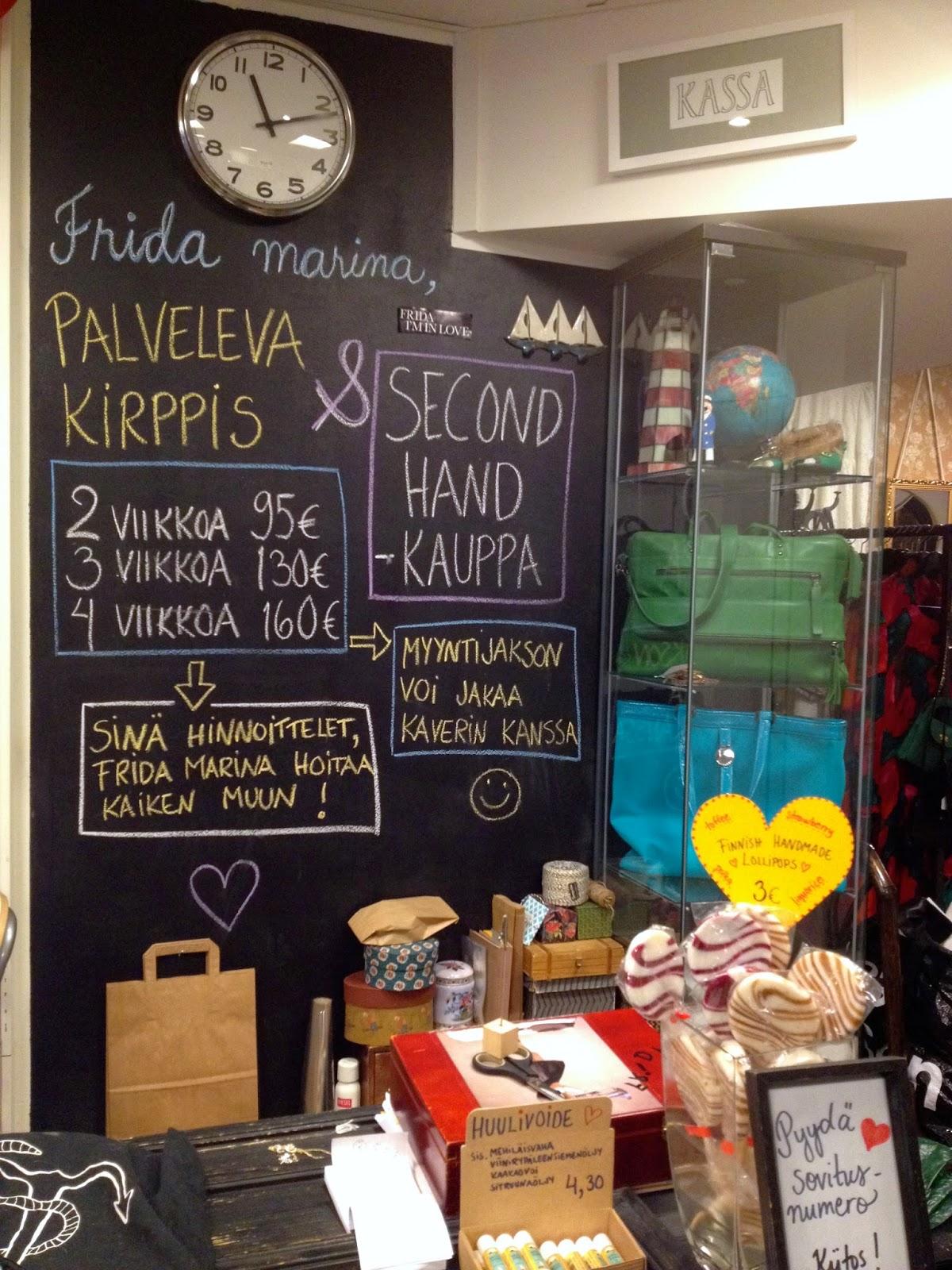 Helsinki har mange flotte retro-butikker. Frida Marina Helsinki er min favoritt.