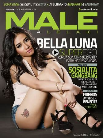 Download Gratis Majalah MALE Mata Lelaki Edisi 98 Cover Model Bella Luna