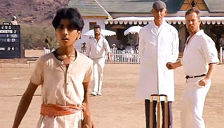 Running Out (Mankaded) Tipu  in Lagaan: Once Upon a Time in India (2001), Directed by Ashutosh Gowariker