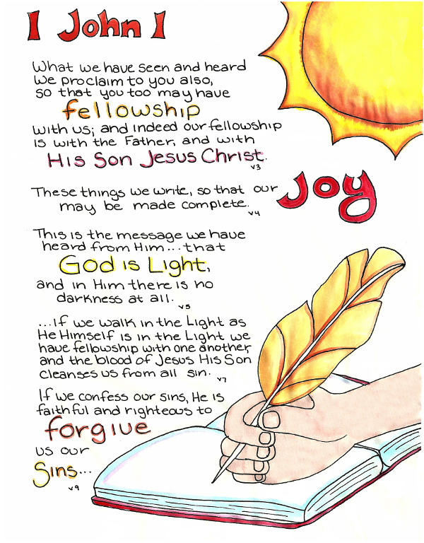 Free Coloring Pages Scripture Study