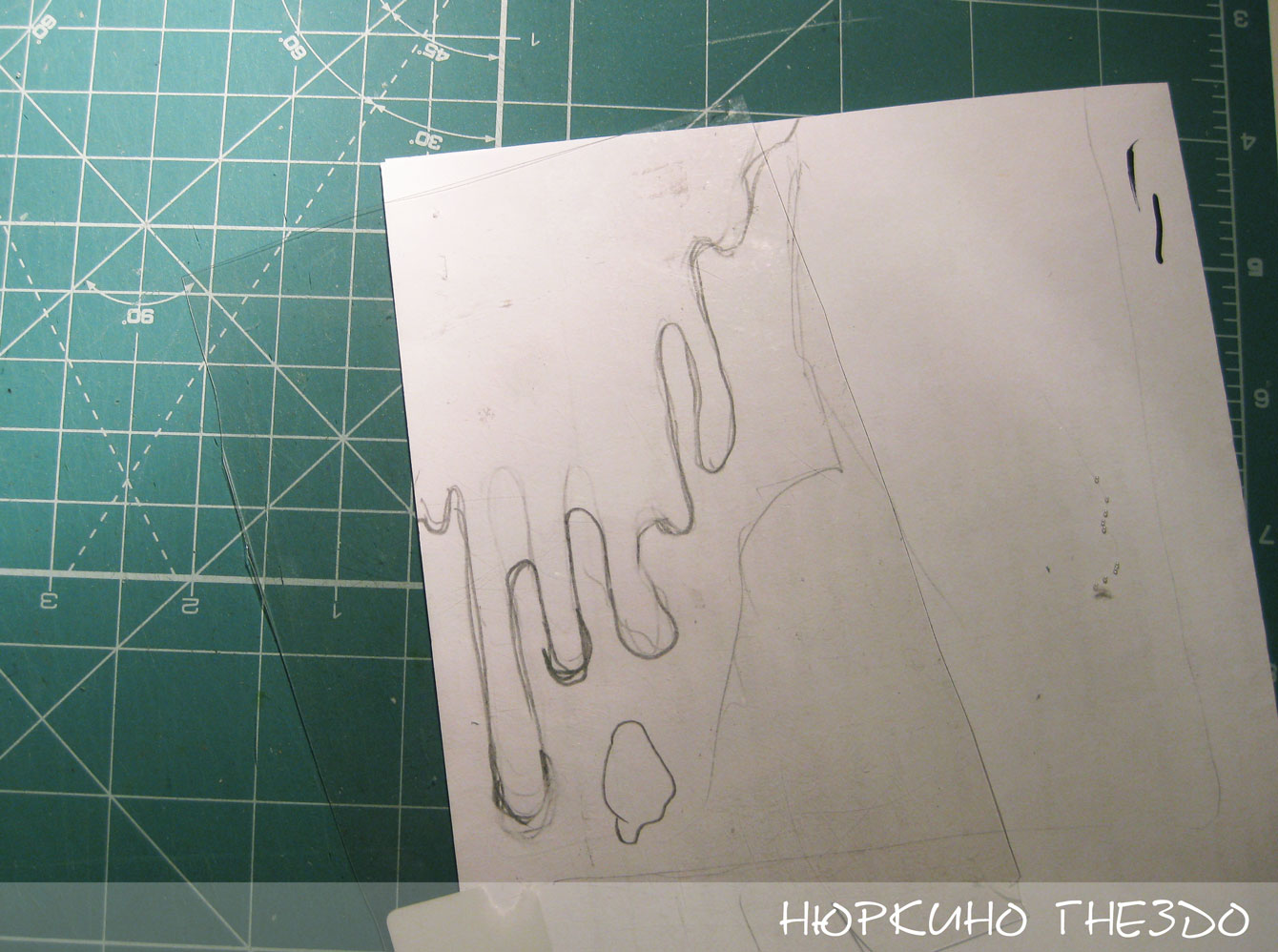 Трафарет для текстурной пасты своими руками