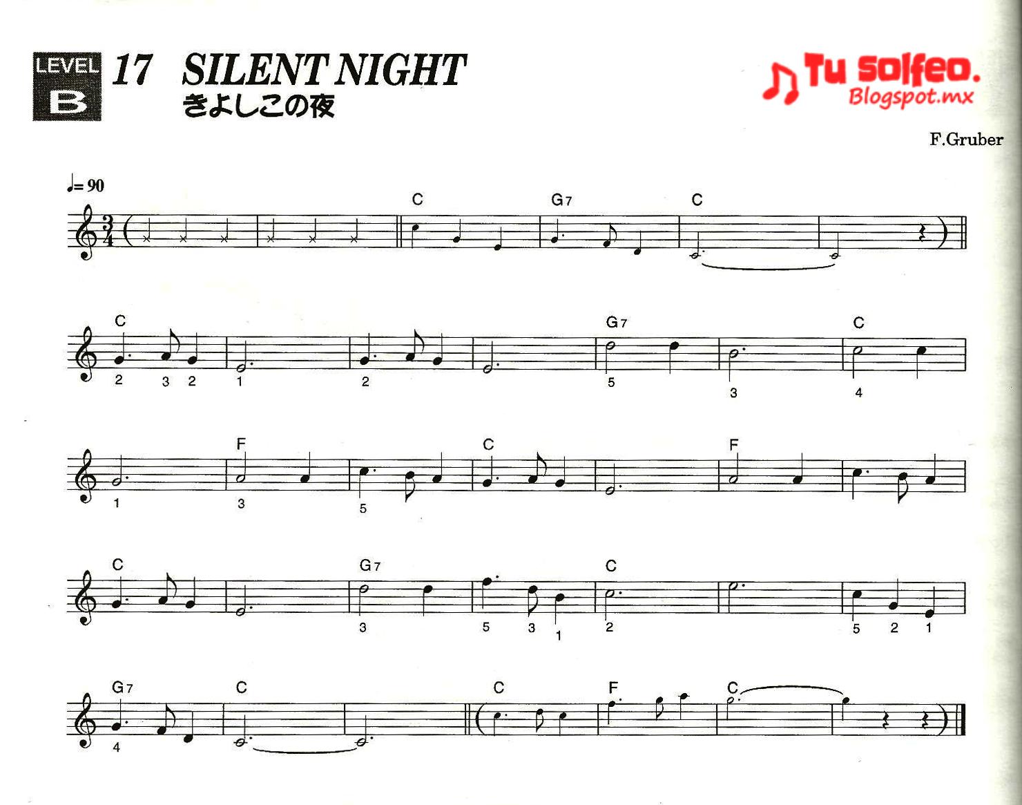 partitura navidad noche de paz silent night