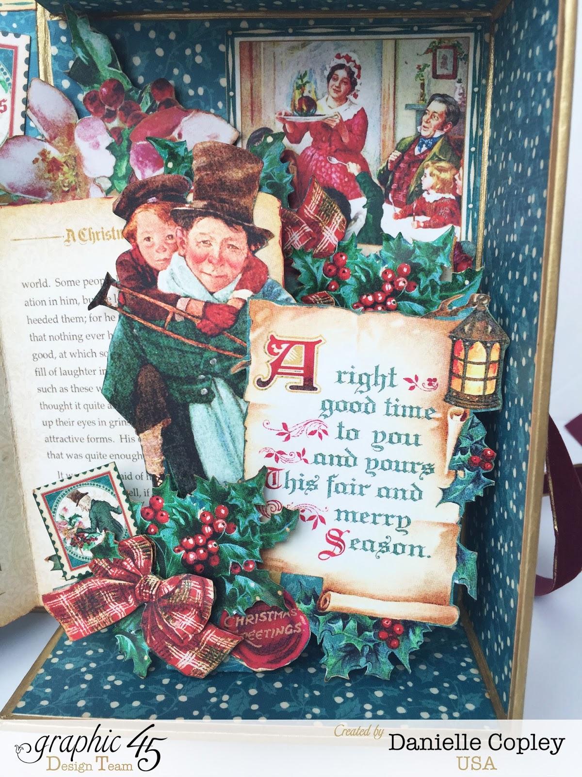 Graphic 45 Christmas Carol Pop Up Shadow Box Scrapbook Maven