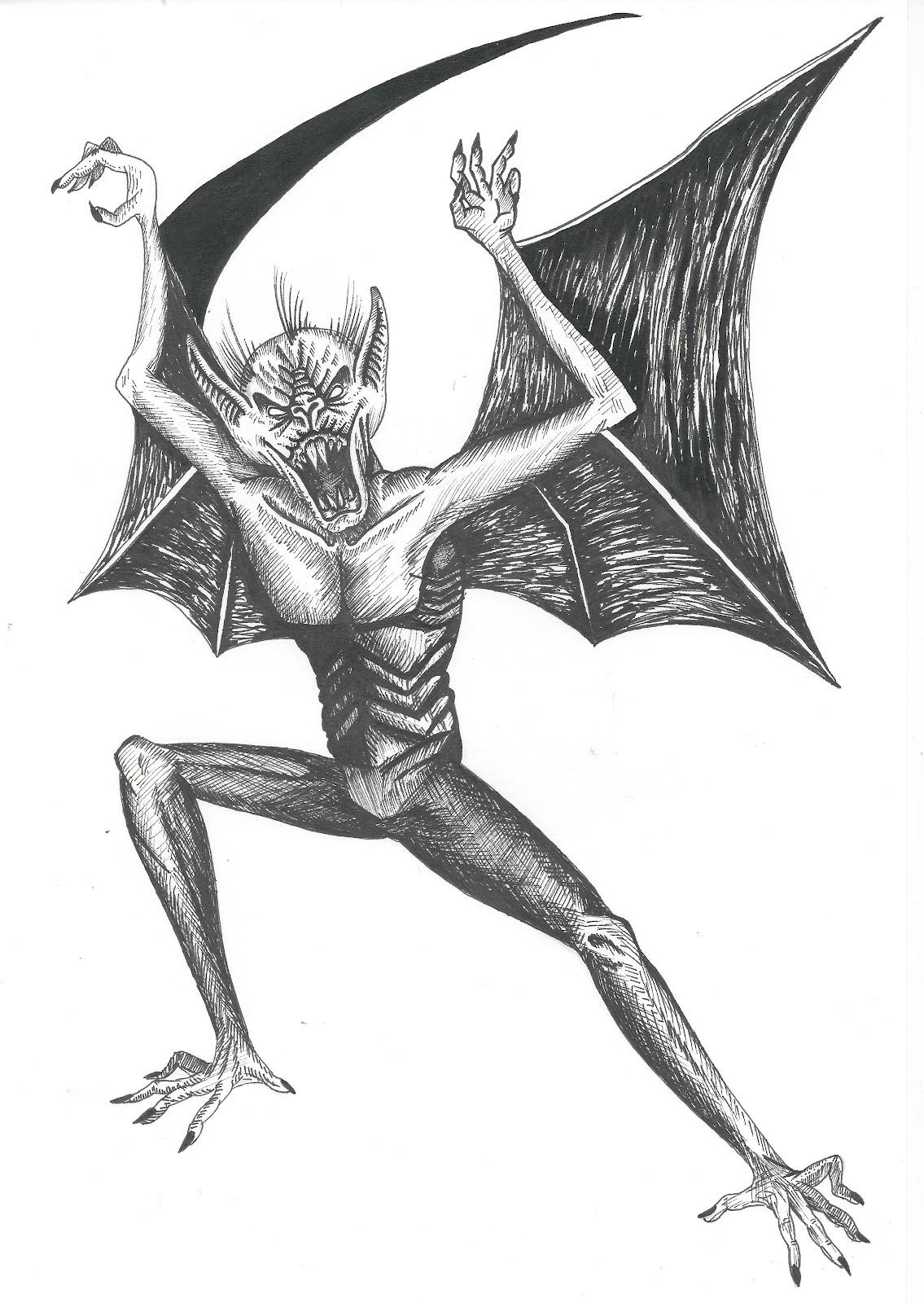 Gallery Vampire Bat Face Drawing