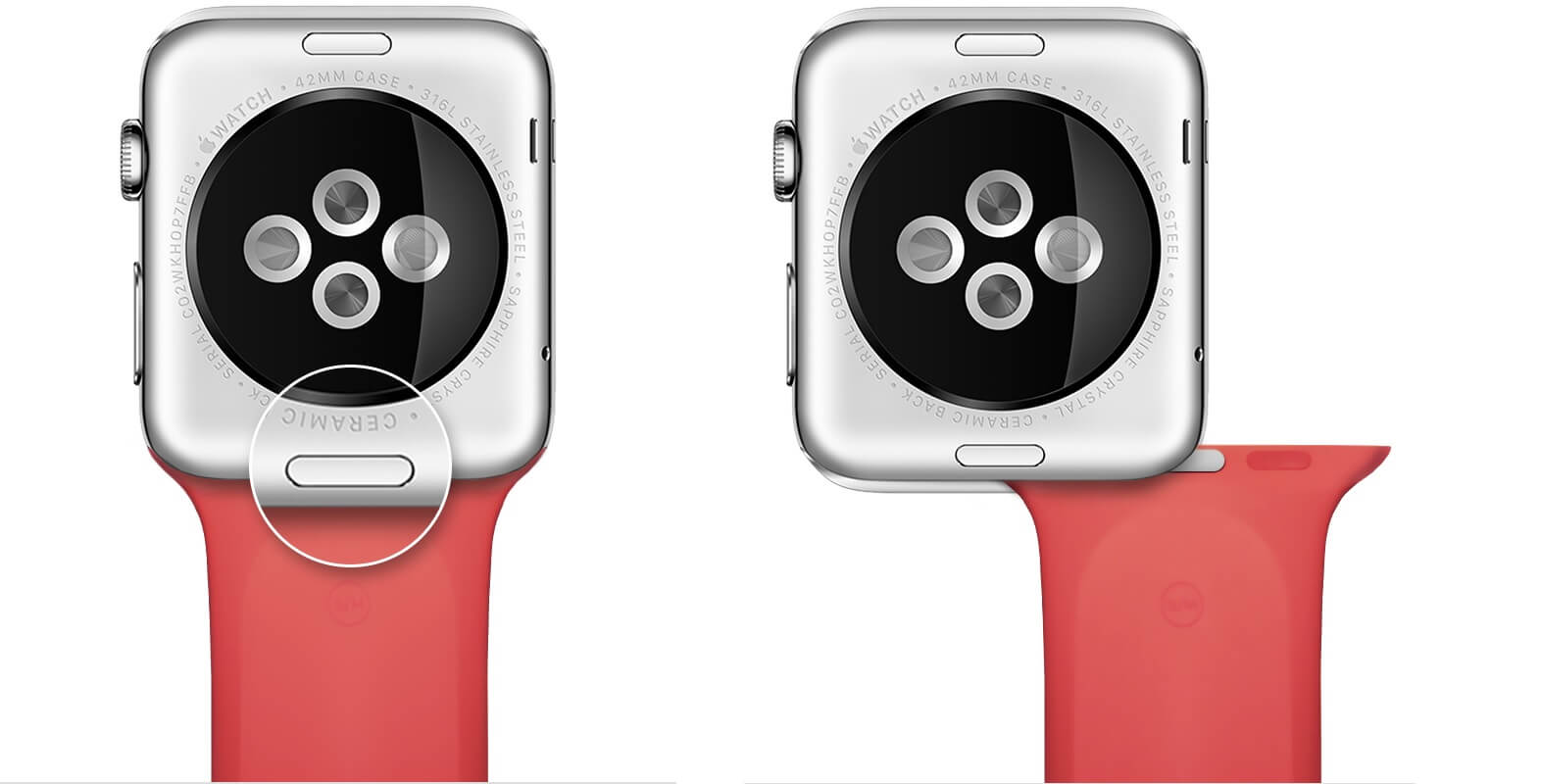 Remover pulseira do Apple Watch
