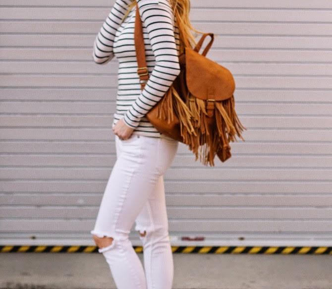 Cella Jane Fashion Blogger : accessorize with fringe