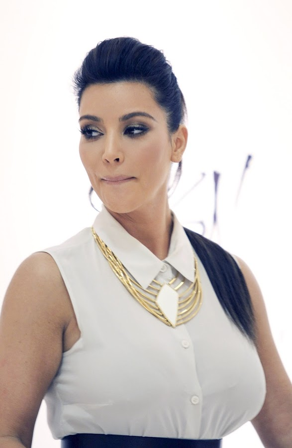 KIM KARDASHIAN  pupmed up her boobs for Belle Noel Jewelry Collection Promotion in Toronto