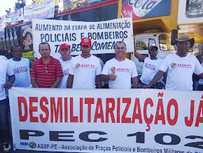 Passeata da PEC 300, no Recife, em 15 de agosto de 2013 - foto 02