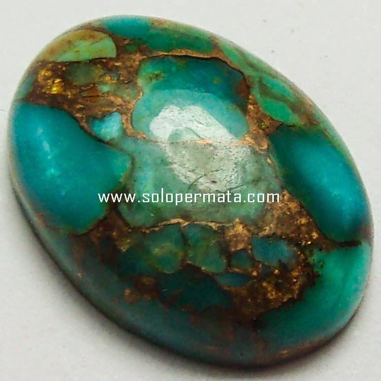 Batu Permata Pyrus Persia Urat Emas