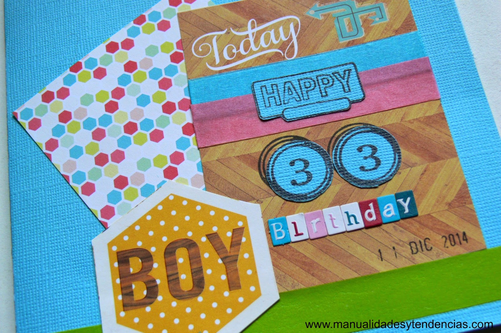Tarjeta de cumpleaños para chico
