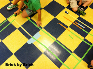Making Roads for Cars with Tape (Brick by Brick)