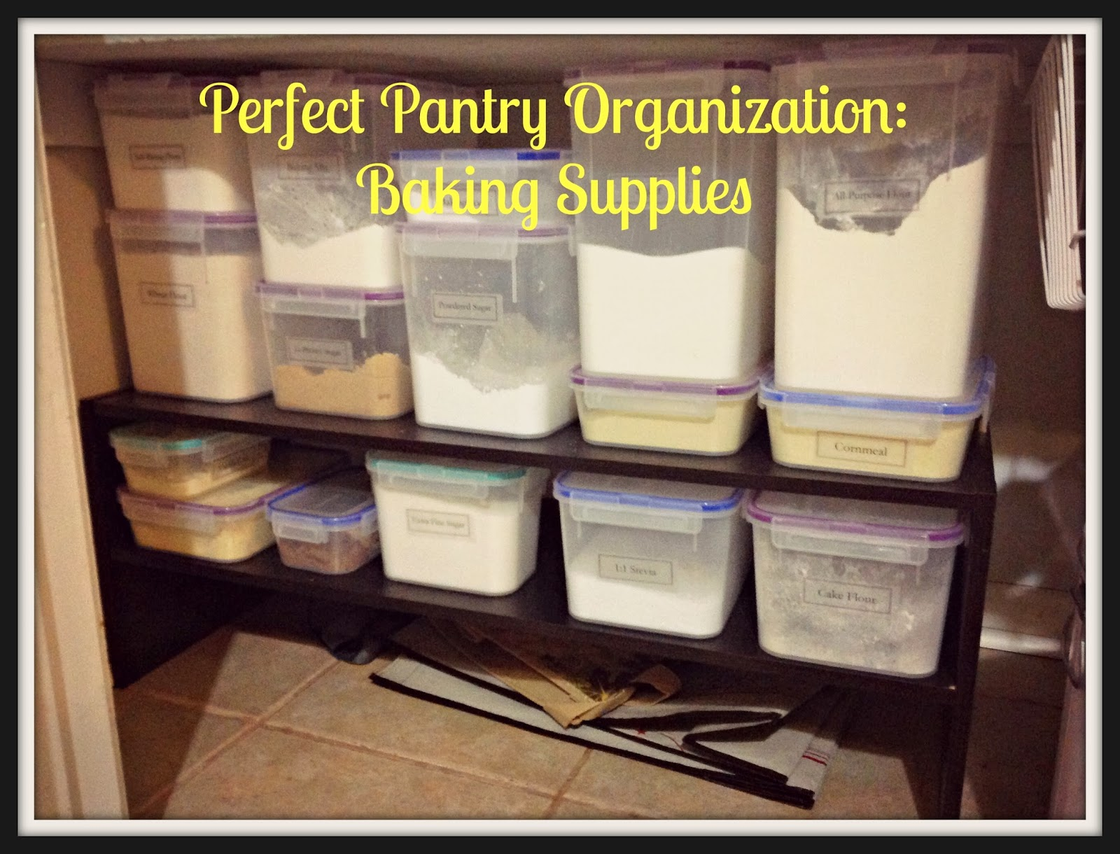 Perfect pantry organization baking supplies with free for Perfect kitchen organization