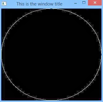 draw circle opengl - using points