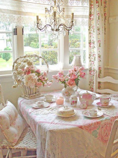 decoração - mesa café da manhã shabby chic