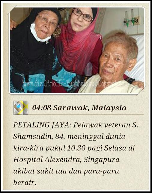 pelawak malaysia yang terkenal, s.shamsudin meninggal dunia, gambar s.shamsudin sakit,