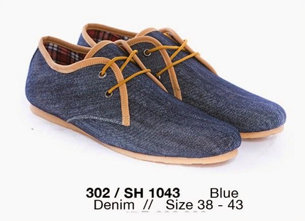 Koleksi Sepatu Casual Pria, Sepatu Casual Pria bahan jeans, model Sepatu Casual Pria terbaru, Sepatu Casual Pria cibaduyut murah, Sepatu Casual Pria cibaduyut online