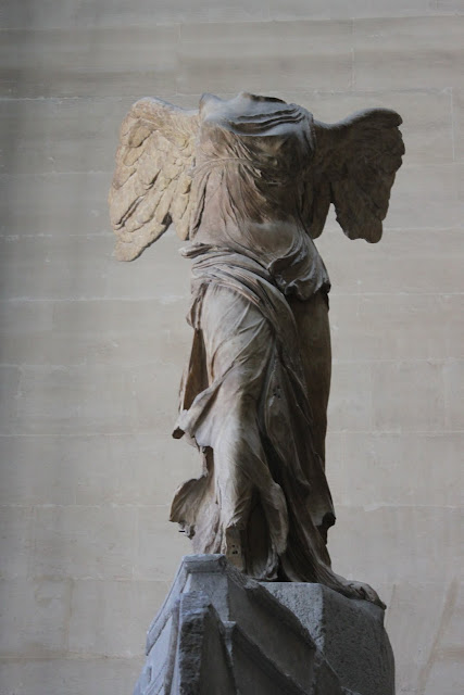 The Winged Victory of Samothrace in Lourve Museum in Paris, France