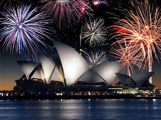 Gambar Kembang Api Tahun Baru 2016 Sydney Australia Fireworks Happy New Year Wallpaper HD
