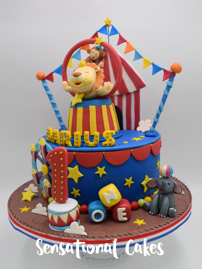 The Sensational Cakes Colorful Circus Animals Carnival Theme