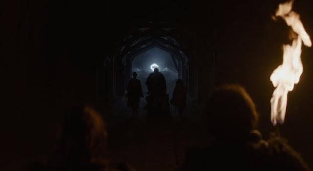 Bran y su grupo pasan más allá del muro - Juego de Tronos en los siete reinos