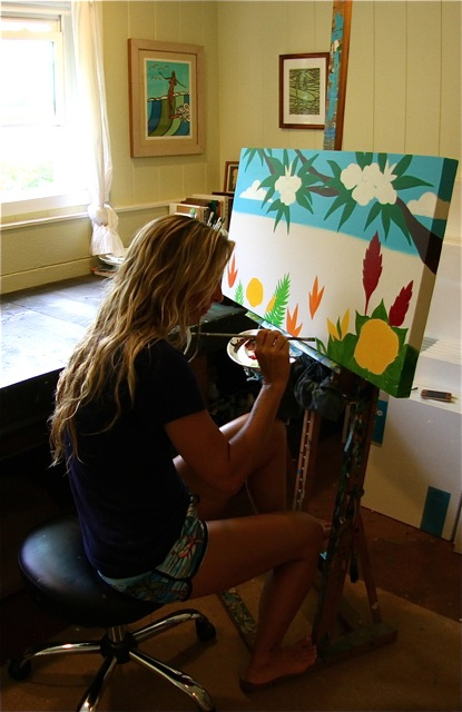 Haleiwa Artist Heather Brown