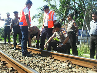 Persiapan Lebaran, Polresta Pekalongan Cek Kondisi Jalur KA
