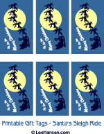 Christmas gift tags or mini cards, printable at LeeHansen.com