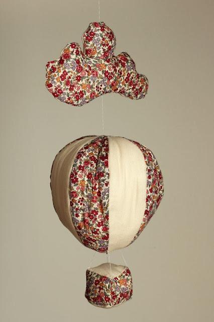 montgolfière couture nuage mobile tissu