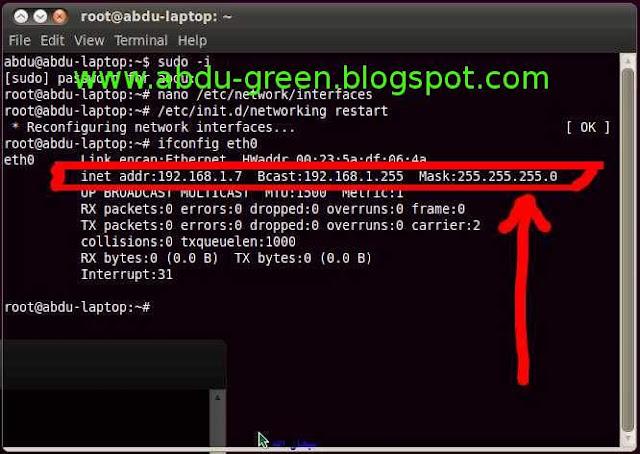 Cara Ganti IP Address di Terminal Linux Ubuntu