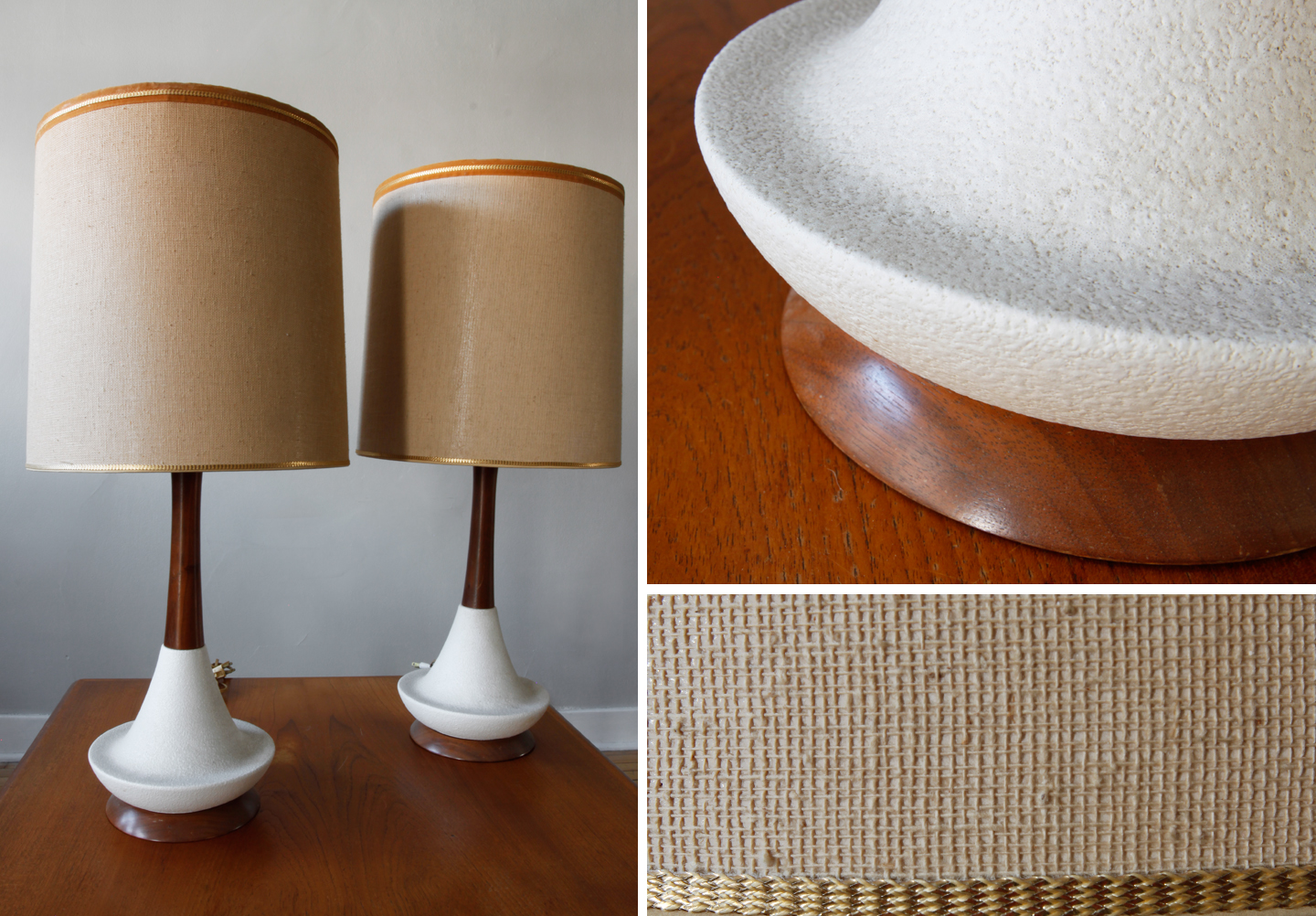 str8mcm mid century ceramic wood lamps